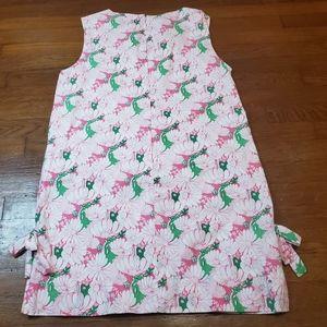 Vintage Lilly Pulitzer Green Pink Shift Dress